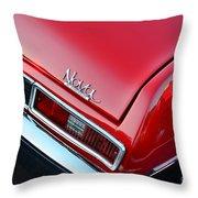 1971 Chevy Nova - Red Throw Pillow