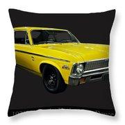 1971 Chevy Nova Yenko Deuce Throw Pillow