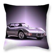 1971 Corvette Stingray 427 Zr1 II Throw Pillow