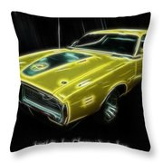 1971 Dodge Charger Superbee - Electric Throw Pillow