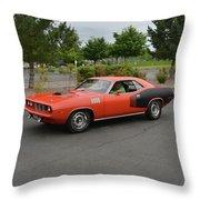 1971 Plymouth Cuda 440 Throw Pillow