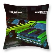 1971 Plymouth Duster 340 And Twister Throw Pillow