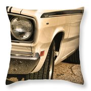 1971 Plymouth Duster 340 Four Barrel Throw Pillow