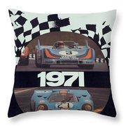 1971 Porsche World Champion Poster Throw Pillow