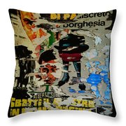 1972 - Borghesia - Throw Pillow