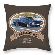 1972 Buick Gs455 Stage 1 Lundbom1972 Buick Gs455 Stage 1 Lundbom Throw Pillow