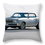 1972 Chevrolet Monte Carlo Throw Pillow