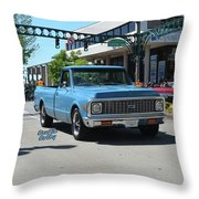 1972 Chevy C10 Bohall Throw Pillow