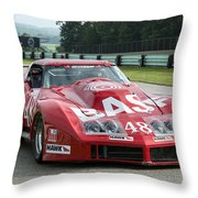 1972 Chevy Corvette At Road America Throw Pillow