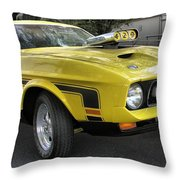 1972 Ford Mustang Mach 1 Throw Pillow