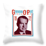 1972 Nixon Presidential Campaign Throw Pillow