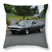 1972 Plymouth Roadrunner Grow Throw Pillow