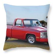 1973 Chevrolet C10 Fleetside Pickup I Throw Pillow