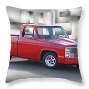 1973 Chevrolet C10 Fleetside Pickup II Throw Pillow