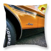 1973 Ford Mustang Throw Pillow