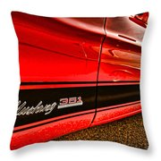 1973 Ford Mustang Mach 1 351 High Performance Throw Pillow