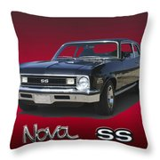 1973 Nova S S 350 Throw Pillow
