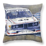 1974 Bmw 3.5 Csl  Throw Pillow