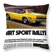 1974 Dodge Dart Sport Rallye Throw Pillow