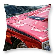 1974 Plymouth Road Runner 340 Throw Pillow