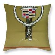 1976 Cadillac Eldorado Convertible Hood Ornament Throw Pillow