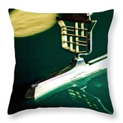 1976 Cadillac Fleetwood Hood Ornament Throw Pillow