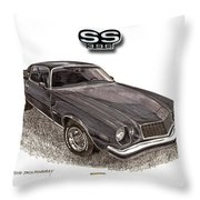 1976 Chevrolet Camato S S 396 Throw Pillow