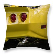 1976 Corvette Stingray Taillights Throw Pillow