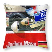 1976 Jarama Marlboro F1 Team Mclaren Jochen Mass Throw Pillow