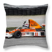 1976 Mclaren M23 F1 At Road America Throw Pillow