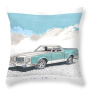 1977 Ford Ranchero Throw Pillow