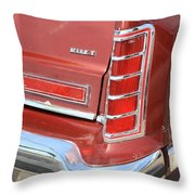 1977 Lincoln Continental Mark V With Tail Lights And Logo Throw Pillow