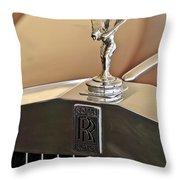 1978 Rolls-royce Hood Ornamaent Throw Pillow