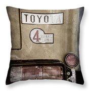 1978 Toyota Land Cruiser Fj40 Taillight Emblem -1191ac Throw Pillow