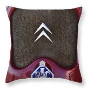 1979 Citroen 2cv Speedster Hood Ornament Throw Pillow by Jill Reger