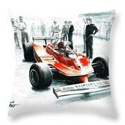 1980  Ferrari 312t5 Throw Pillow