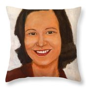 1980 Portrait Throw Pillow