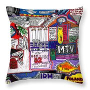 1981 Throw Pillow by David Sutter