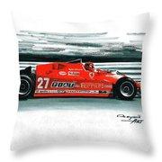 1981  Ferrari 126cx Throw Pillow