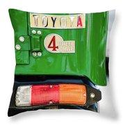 1982 Toyota Fj43 Land Cruiser Tail Light Emblem -0483g Throw Pillow