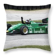 1983 Tyrrell 011 F1 At Road America Throw Pillow
