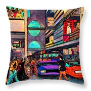 1984 Vision Of Times Square 2015 Throw Pillow