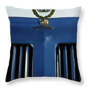 1985 Tiffany Coupe Hood Ornament Throw Pillow by Jill Reger
