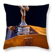 1986 Rolls-royce Hood Ornament Throw Pillow