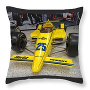 1987 Indianapolis 500 Winner Al Unser Throw Pillow