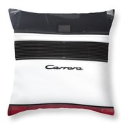 1987 White Porsche 911 Carrera Back Throw Pillow