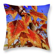 #199 Red Maple Throw Pillow