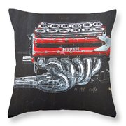 1990 Ferrari F1 Engine V12 Throw Pillow