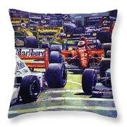 1992 Monaco Gp Start  Throw Pillow