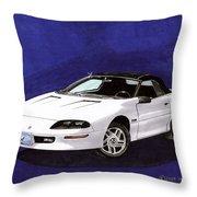 1995 Camaro Convertible Throw Pillow